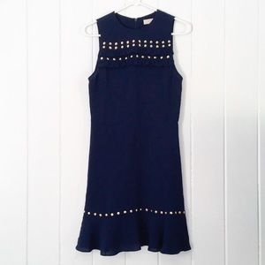 MICHAEL Michael Kors Dresses - Michael Kors Navy Dress with Gold